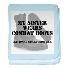 National Guard Brother Sister wears CB baby blanke