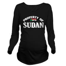 Property Of Sudan Long Sleeve Maternity T-Shirt