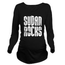 Sudan Rocks Long Sleeve Maternity T-Shirt