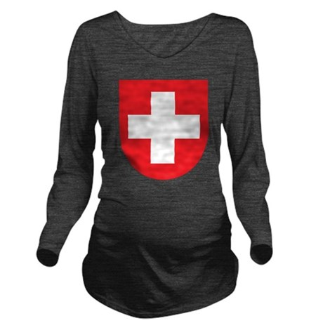 Switzerland Coat Of Arms Long Sleeve Maternity T-S