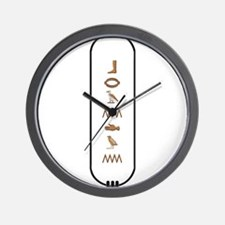 "Brandon in Hieroglyphics ""Col Wall Clock"