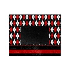 Red, Black and White Argyle Picture Frame