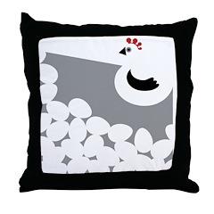 Chicken Gray Throw Pillow