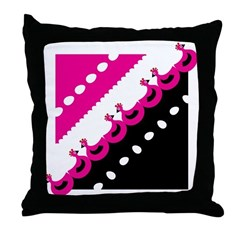 ChickenPink Throw Pillow