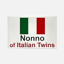 Italian Twins-Nonno Rectangle Magnet