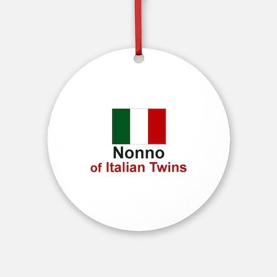 Italian Twins-Nonno Keepsake Ornament
