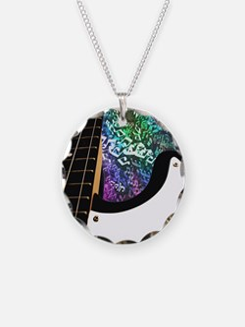 Rainbow Notes Bass Guitar Necklace