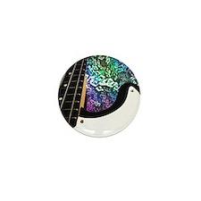 Rainbow Notes Bass Guitar Mini Button