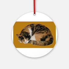 Callico Napping Ornament (Round)