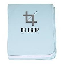Oh, Crop baby blanket