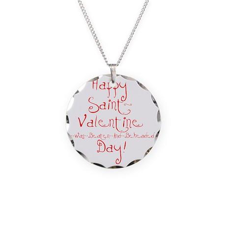 valentine Necklace Circle Charm