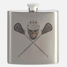 Lacrosse Pirate Skull Flask