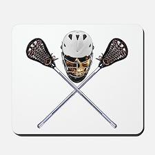 Lacrosse Pirate Skull Mousepad