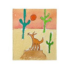 Desert Coyote 11x17 350dpi Throw Blanket