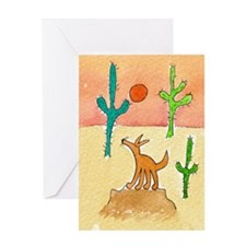 Desert Coyote 11x17 350dpi Greeting Card