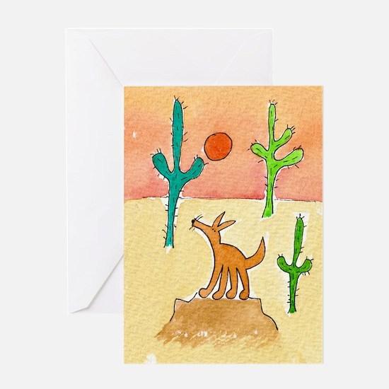 Desert Coyote 11x17 350dpi Greeting Card