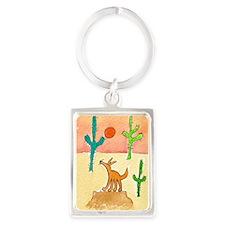 Desert Coyote 11x17 350dpi Portrait Keychain