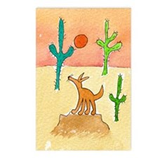 Desert Coyote 11x17 350dp Postcards (Package of 8)
