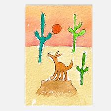 Desert Coyote 11x17 350dp Postcards (Package of 8)