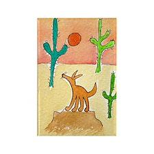 Desert Coyote 11x17 350dpi Rectangle Magnet
