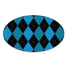 Blue and Black Argyle Decal