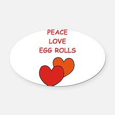 egg rolls Oval Car Magnet