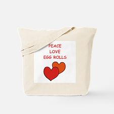 egg rolls Tote Bag
