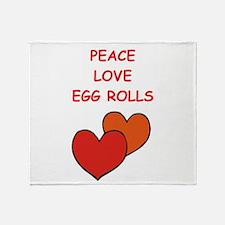 egg rolls Throw Blanket