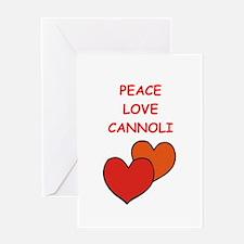 cannoli Greeting Cards