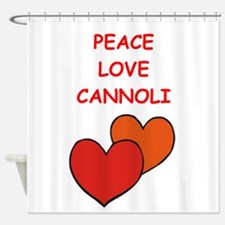 cannoli Shower Curtain