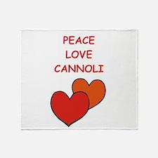cannoli Throw Blanket