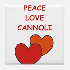 cannoli Tile Coaster