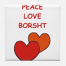 borsht Tile Coaster