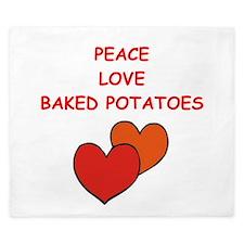 baked potato King Duvet