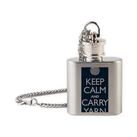 2-journalnavy Flask Necklace