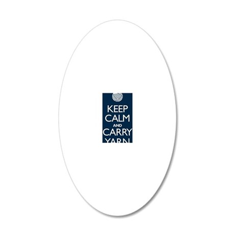 2-journalnavy 20x12 Oval Wall Decal
