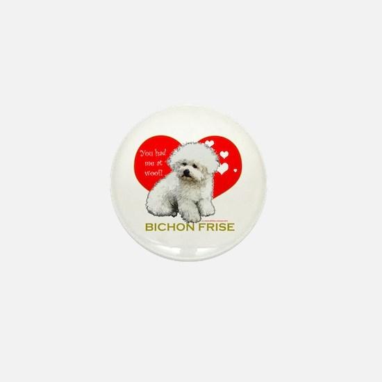 Afghan Hound Valentine Heart Mini Button
