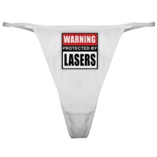 Warning Lasers Classic Thong