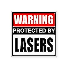 Warning Lasers Sticker
