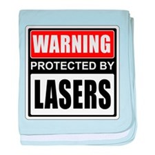 Warning Lasers baby blanket
