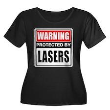 Warning Lasers Plus Size T-Shirt