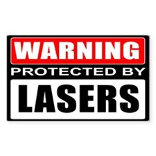 Warning Lasers Decal