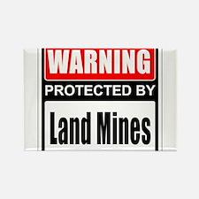 Warning Land Mines Magnets