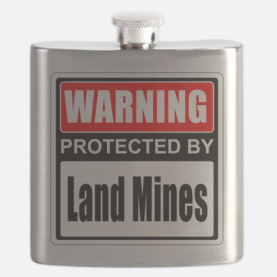 Warning Land Mines Flask