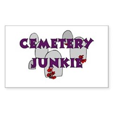Cemetery Junkie Rectangle Decal