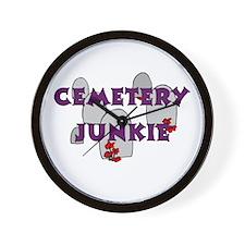 Cemetery Junkie Wall Clock