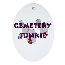 Cemetery Junkie Oval Ornament