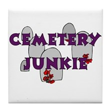 Cemetery Junkie Tile Coaster