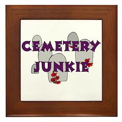 Cemetery Junkie Framed Tile