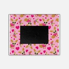 Chihuahua Heart Pattern Picture Frame